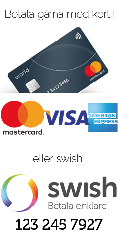 Betala gärna med kort eller Swish